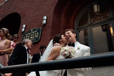 boston couple after ceremony