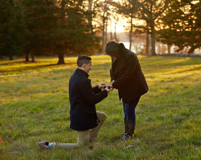 ben proposes to roxanna in hingham MA