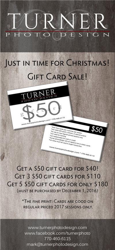 2016 fall gift card sale