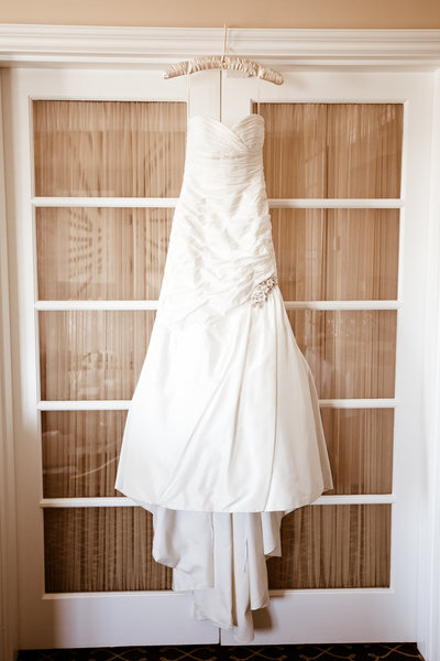 Wedding dress photo at the Four Seasons Beverly Hills in Los Angeles photo by Gilmore Studios
