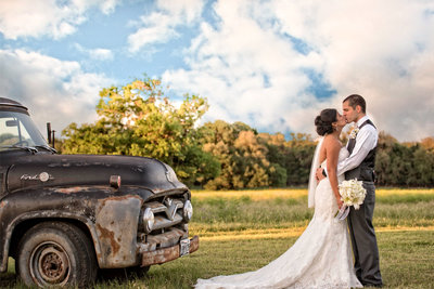 truck marine corps wedding country field
