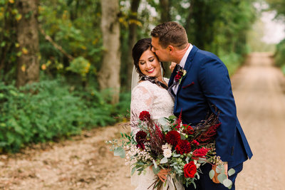 Click to view more photos of Corrie and Neal's wedding at Three Barn Farm
