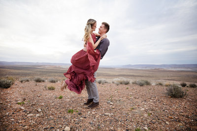 Page Arizona Antelope Canyons Engagement and Proposal Photography