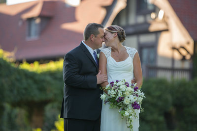 newlyweds at Saint Clement's Castle