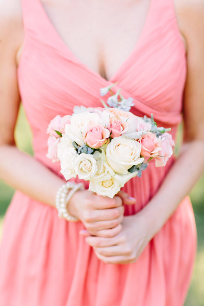 bridesmaid in Peach tones inspired wedding