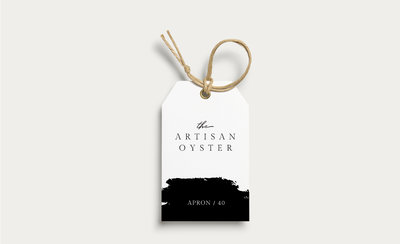 Hang tag for The Artisan Oyster