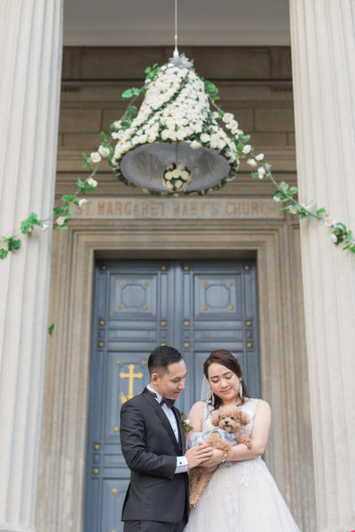 Hong Kong Church Wedding at St Margaret's Church & Regal Hotel with Sheila & Charles