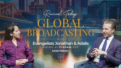 Jonathan Shuttlesworth of Revival Today teaches on Live Television, YouTube, Facebook, and Limitless TV