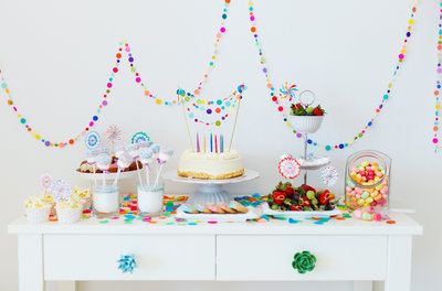 youth birthday snack table