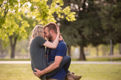 Nashville Engagement session downtown in rain