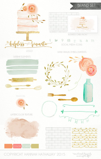 Brand_Set_-_Pre_Made_Wedding_Cake_Baking_Logo_-_Bakery_Logo_-_Wedding_Branding_-_Flower_Logo_-_Pink_-270633890-_1