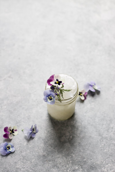 Floral coconut gin crush