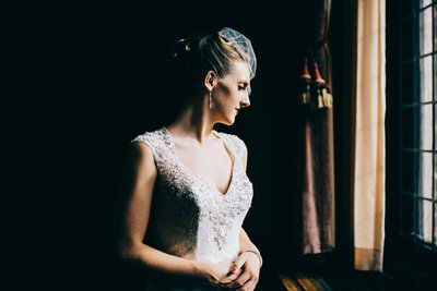 retro bride dress