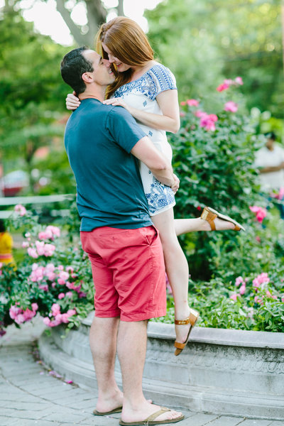 fun and vibrant engagement session in Rye NY