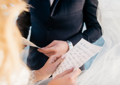 beach elopement handwritten vows