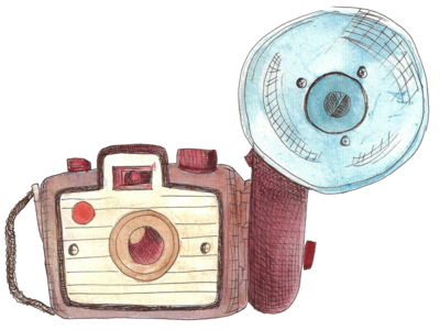 old camera watercolor