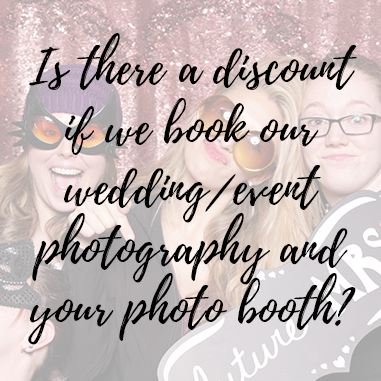 We love photographing weddings and even moreso when we provide a photo booth for the reception