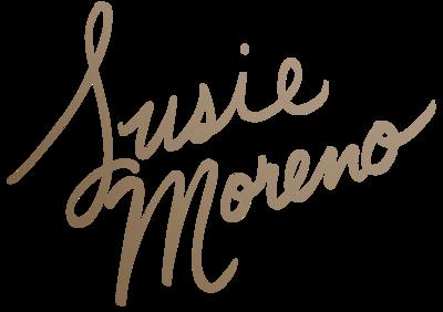 Susie Moreno main logo bronze