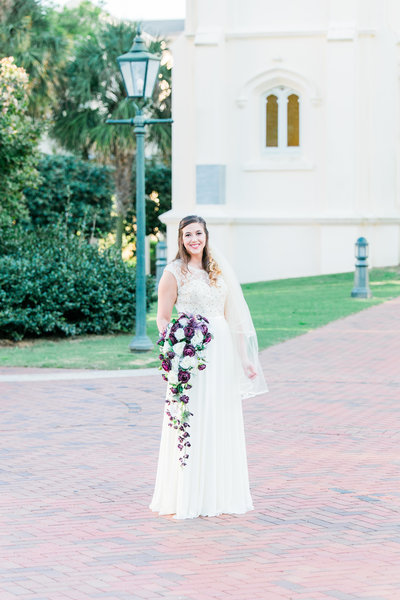 Bridal portrait at Springhill College in Mobile Alabama | Toni Goodie Photography