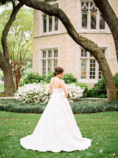 bridal session at highland park united methodist church smu dallas
