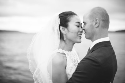 Wedding elopement photos of couple in Saint John, NB