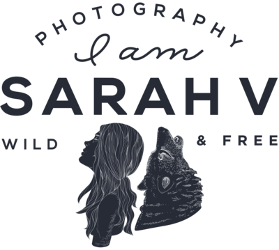 Maine + NH Wedding Photographer Elopement Logo for I AM SARAH V Photography