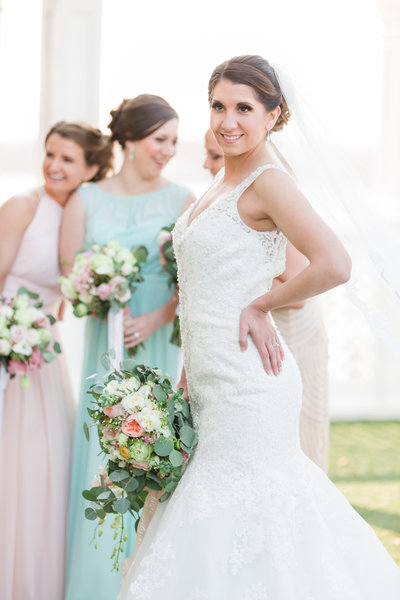 Spring wedding with multicolored dresses-66