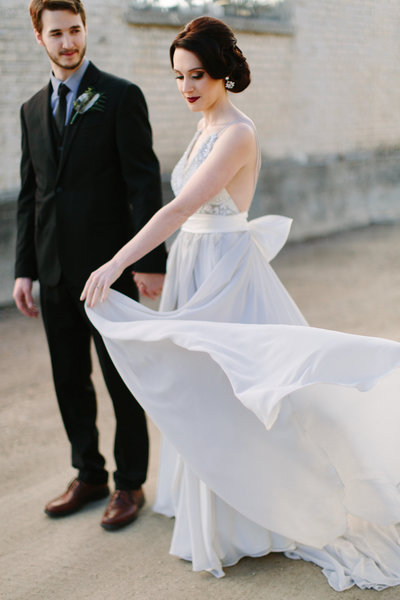 Minneapolis_Wedding_couple_blue_flowing dress