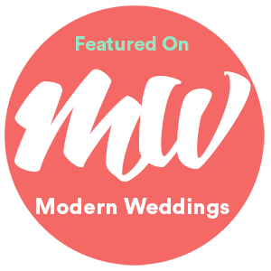 modern weddings badge