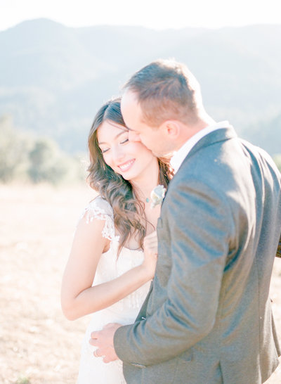 Sunset Bridal Photo at Mountain Winery wedding, photographed by Fine Art Wedding Photographers - Evonne & Darren Photography
