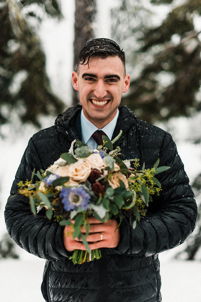 Adventure Wedding Planner PNW Snow Elopement Mount Baker