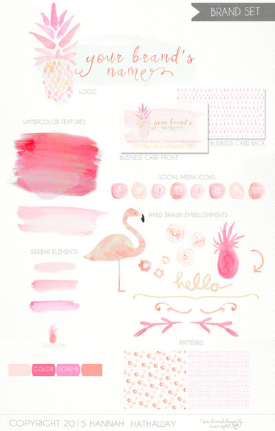 Boutique_Logo_-_Brand_Set_-_Pre_Made_Feminine_Logo_-_Tropical_Logo_-_Pineapple_Logo_-_Watercolor_Log-243766210-_4