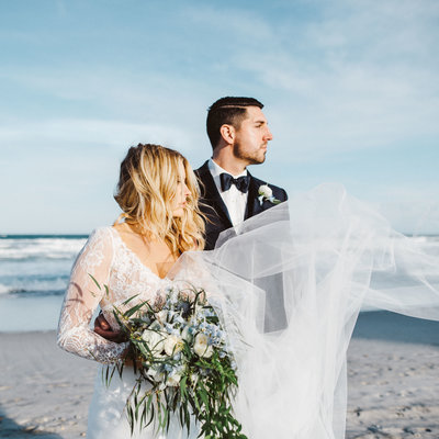 hailey page boho beach bride bouquet
