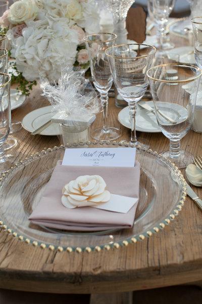 Wedding reception tableware Marbella Country Club wedding in Orange County, CA San Juan Capistrano wedding photographer
