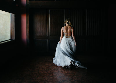 Moody bridal portrait by Yakima wedding photographer