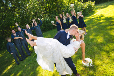 Jordan & Taylor's Outdoor Wisconsin Northwoods Wedding Photos by Amenson Studio-0146