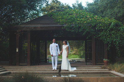 Rancho Santa Ana Botanic Garden wedding photos in Claremont, CA by Inland Empire wedding photographer