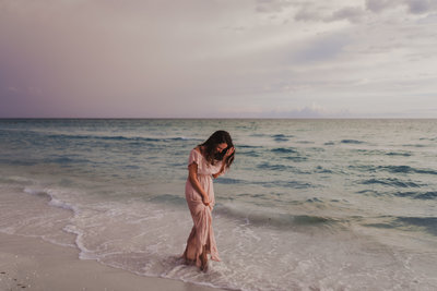 Elle Baker Photography was photographed by Twyla Jones at a Florida beach