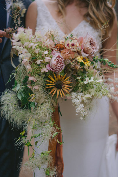 Boho Winthrop Wedding Bridal Bouquet