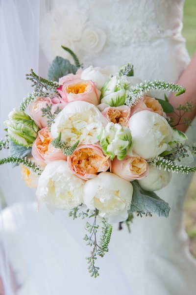 peach and green boho weddings photo by www.kriskandel.com