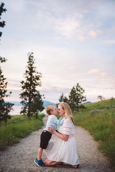 Beautiful family session during sunset