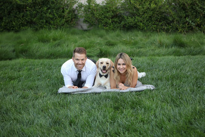 Holbrook Palmer Park, Atherton Engagement Photography with their Dog