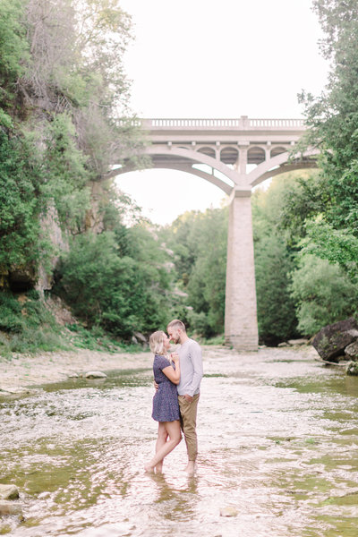 elora gorge engagement session