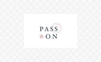 Primary logo mark for Pass On, a pastoral care ministry based in Colorado.