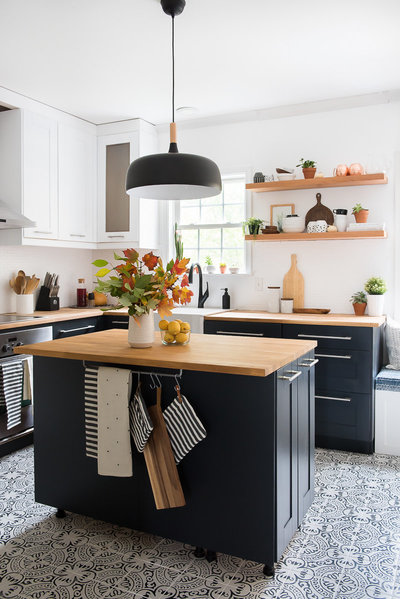 Modern two toned kitchen reveal-10