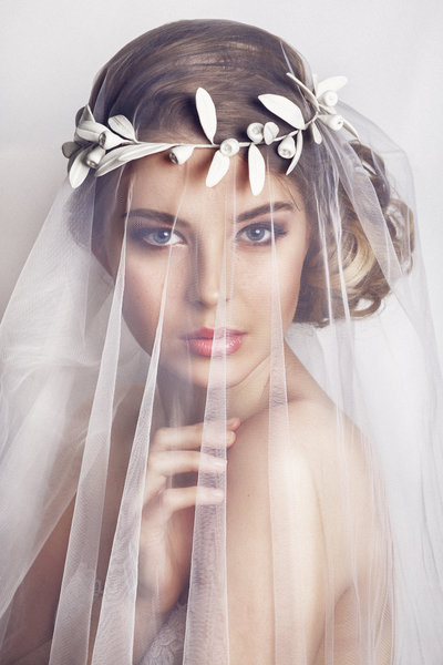 Bride with veil and crown