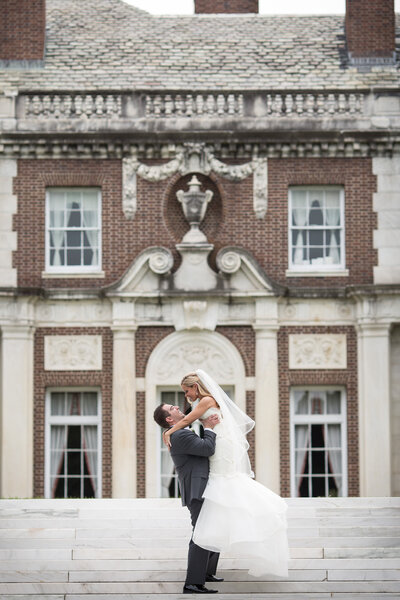 Wedding Day Couples Portrait - De Seversky Mansion Venue