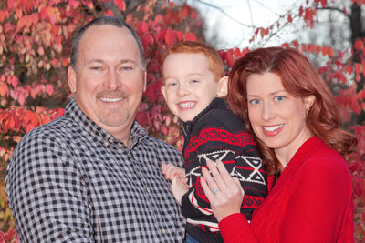 Family of Three Red head