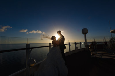 Disney Cruise Bride and Groom