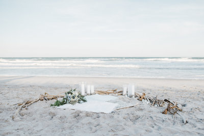 boho beach wedding design
